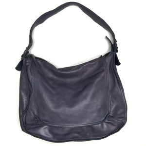 Lucky Brand Blue Leather Hobo Bag